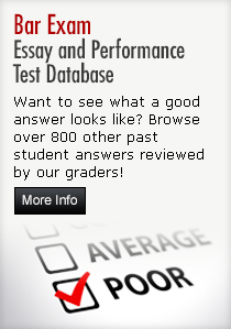 Bar Exam Essay and Performance Test database
